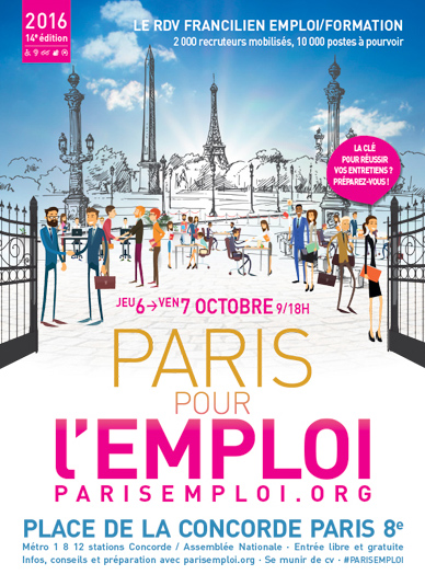 Paris pour l 39 emploi 2016 for Salon de l emploi paris